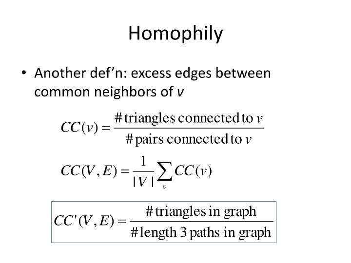 Homophily