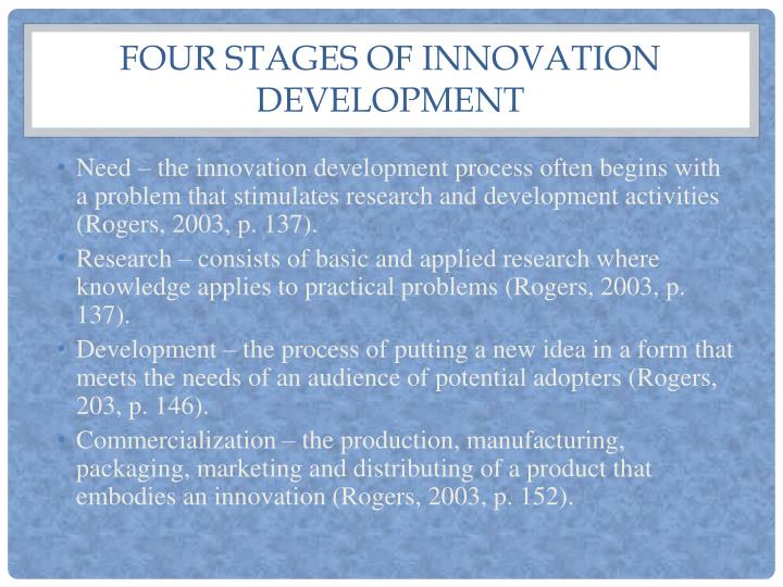 Four stages of innovation development