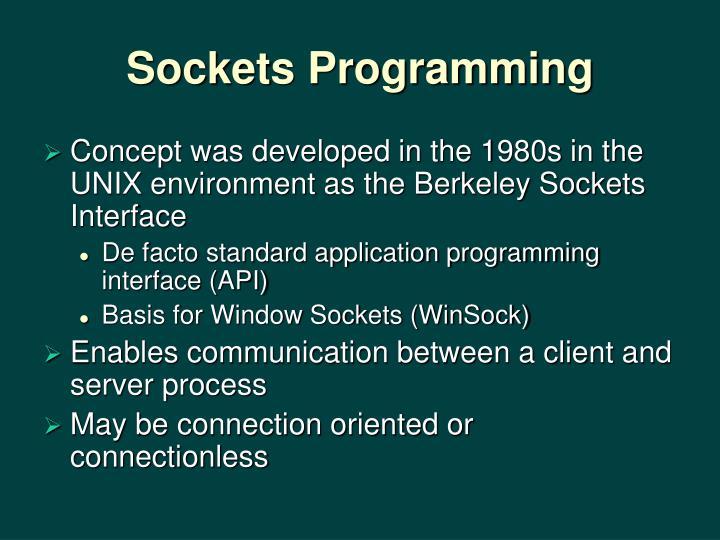 Sockets Programming