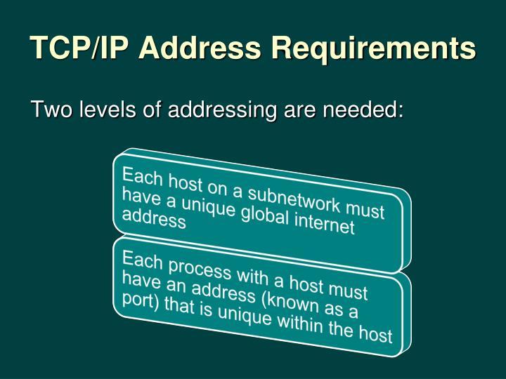 TCP/IP Address Requirements