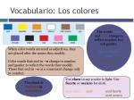 vocabulario los colores