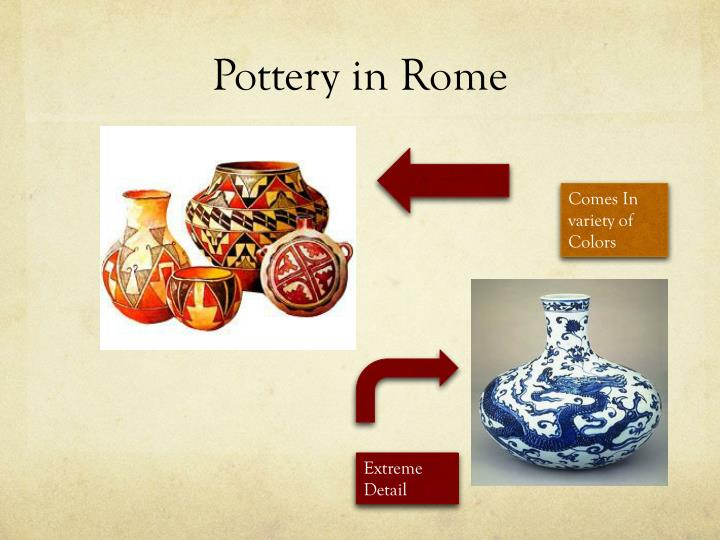 Pottery in Rome