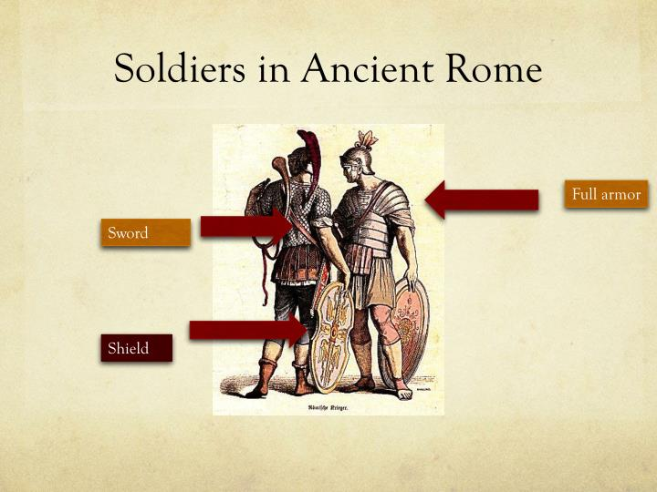 Soldiers in Ancient Rome