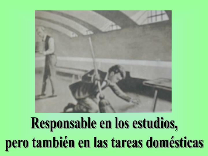 Responsable en los estudios,