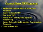 current water rip programs