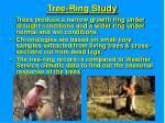 tree ring study