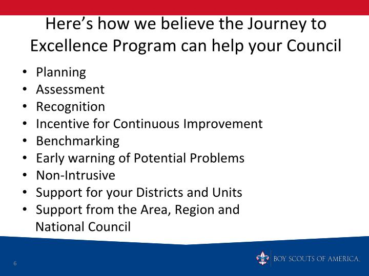 Here's how we believe the Journey to Excellence Program can help your Council