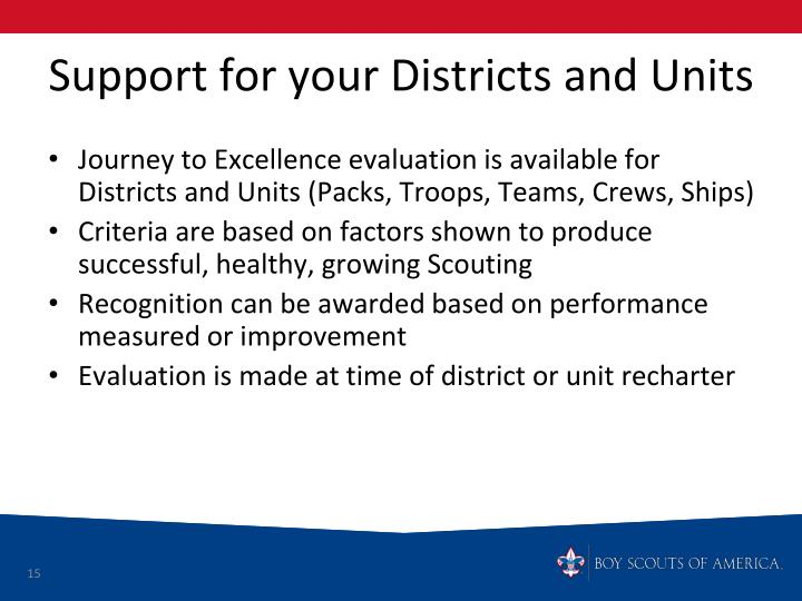 Support for your Districts and Units