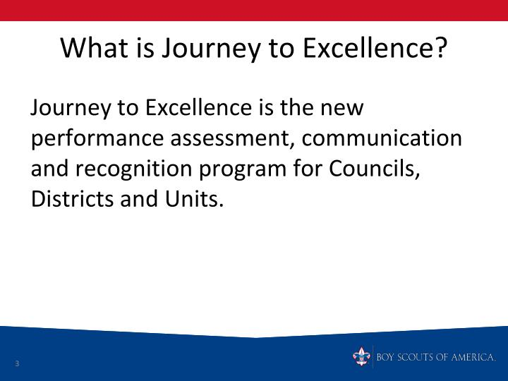 What is Journey to Excellence?