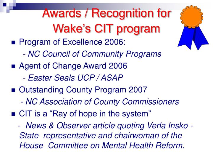 Awards / Recognition for