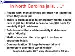 in north carolina jails