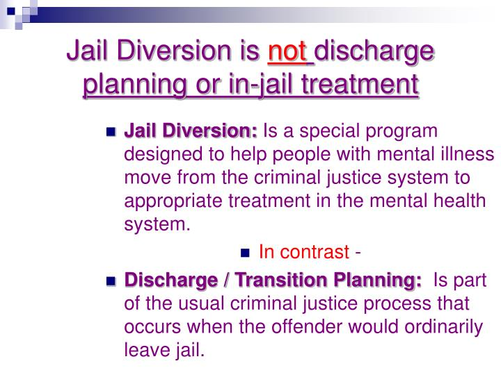 Jail Diversion is