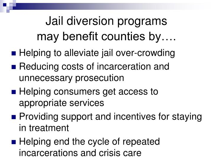Jail diversion programs