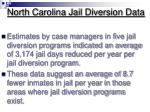 north carolina jail diversion data