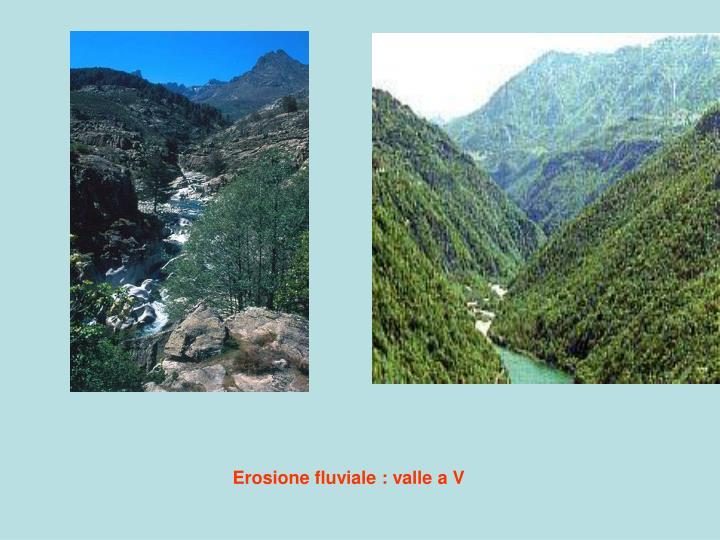 Erosione fluviale : valle a V