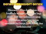 definisi microsoft office