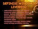 definisi windows live@edu