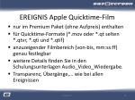 ereignis apple quicktime film