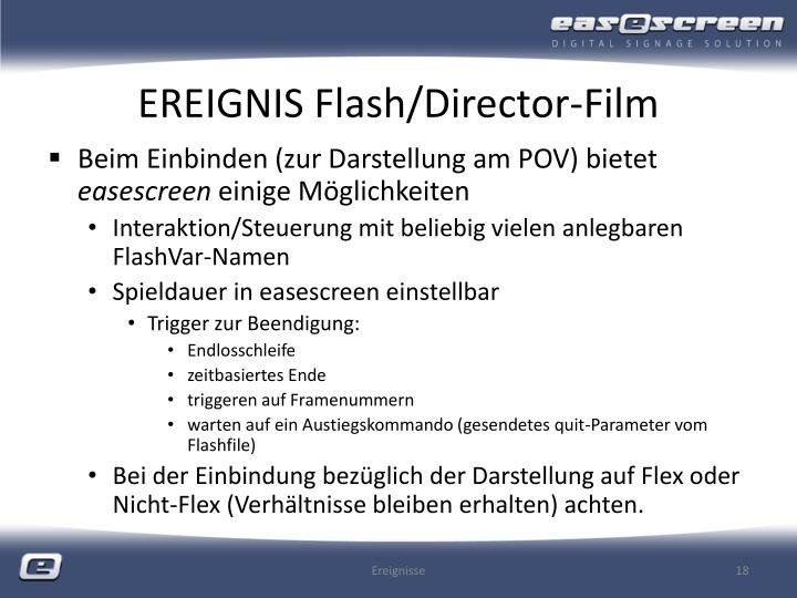 EREIGNIS Flash/Director-Film