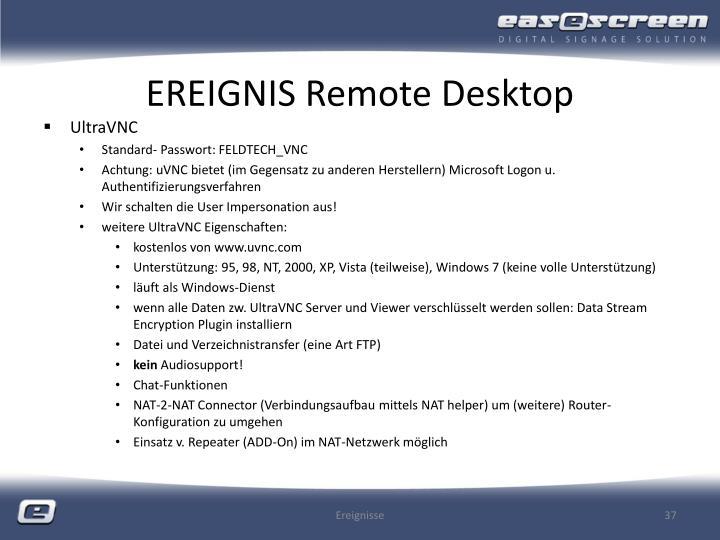 EREIGNIS Remote Desktop