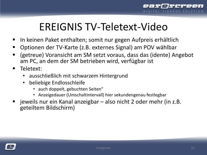 EREIGNIS TV-Teletext-Video