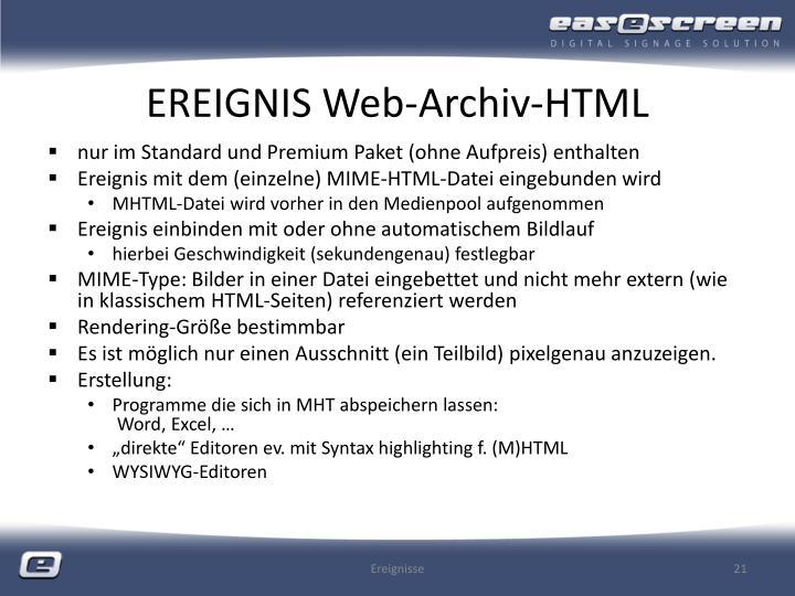 EREIGNIS Web-Archiv-HTML