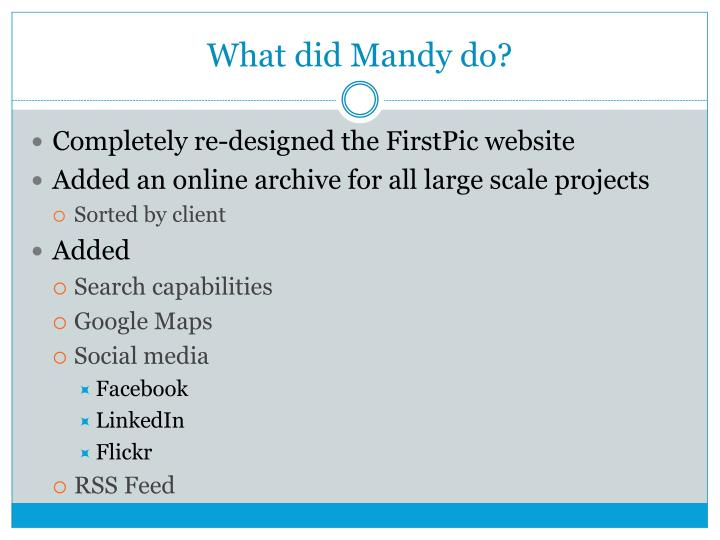 What did Mandy do?