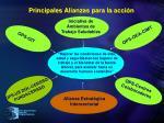 principales alianzas para la acci n