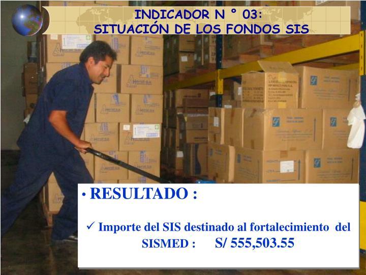 INDICADOR N ° 03:
