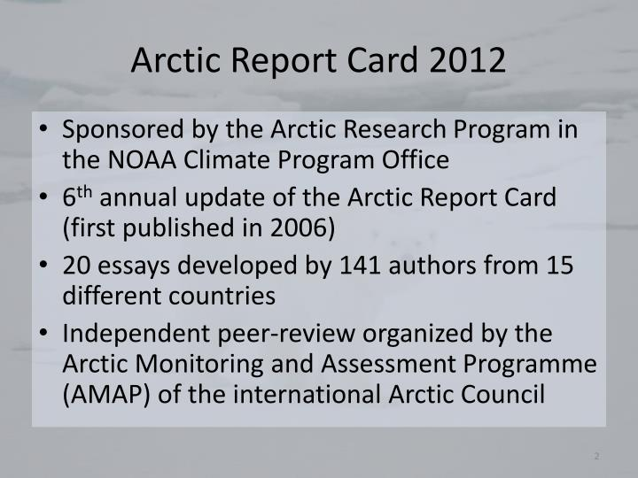 Arctic report card 2012