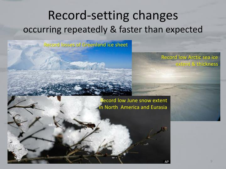 Record-setting changes