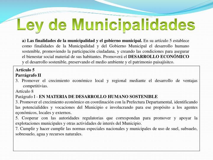 Ley de Municipalidades