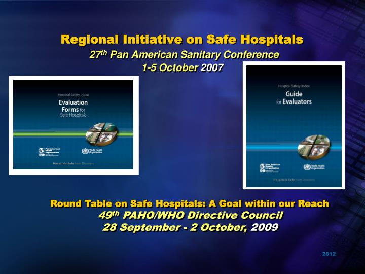 Regional Initiative on Safe Hospitals