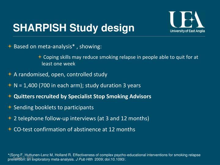 SHARPISH Study design