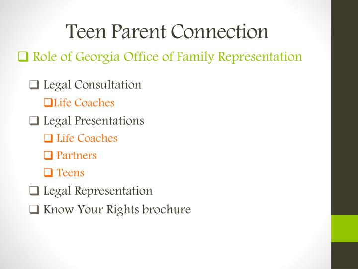 Teen Parent Connection