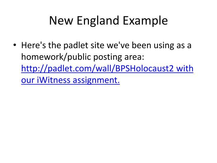 New England Example