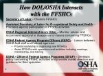 how dol osha interacts with the ffshcs
