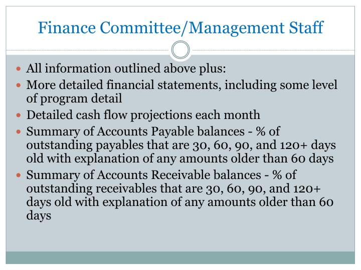 Finance Committee/Management Staff