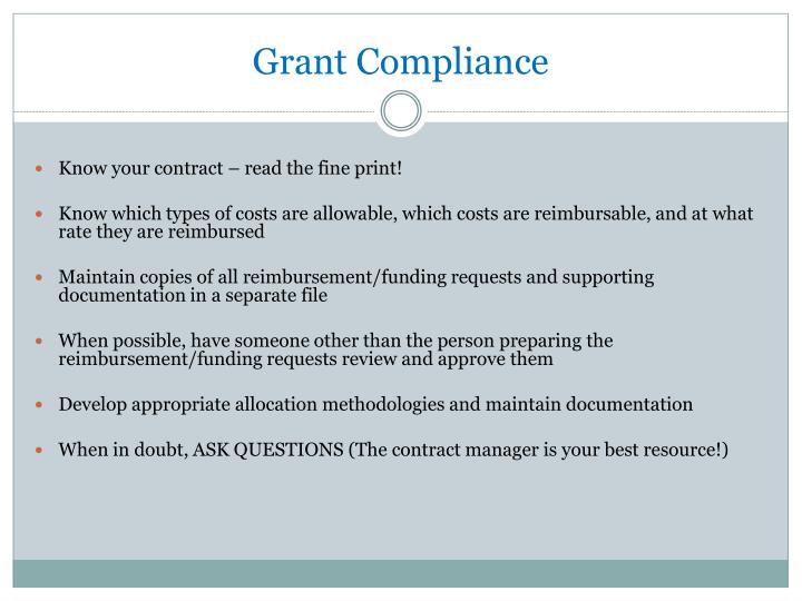 Grant Compliance