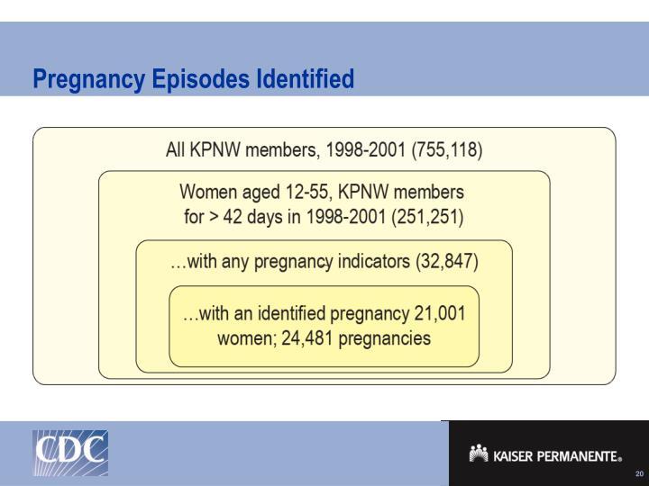 Pregnancy Episodes Identified