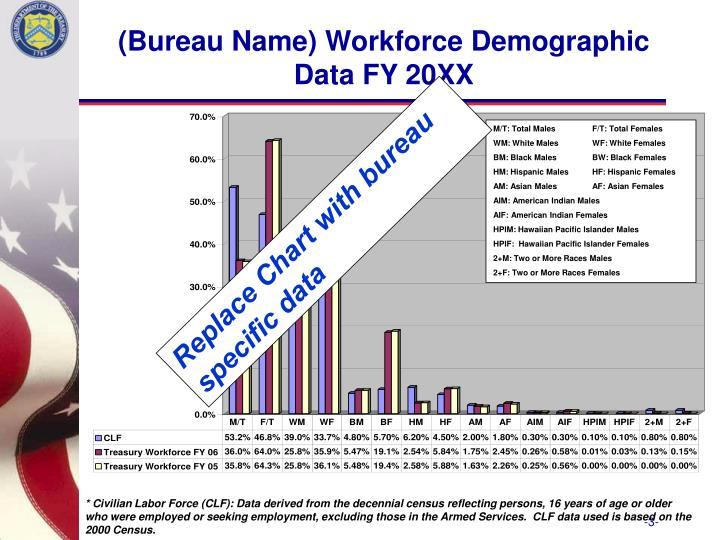 Bureau name workforce demographic data fy 20xx