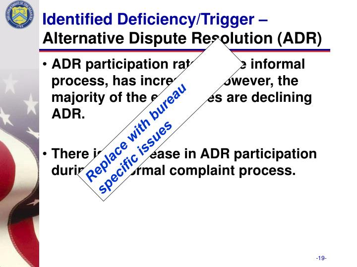 Identified Deficiency/Trigger –