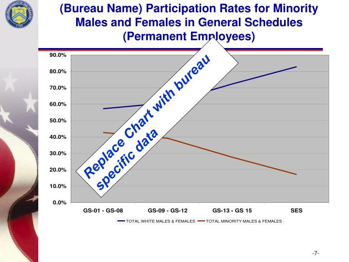 (Bureau Name) Participation Rates for Minority Males and Females in General Schedules