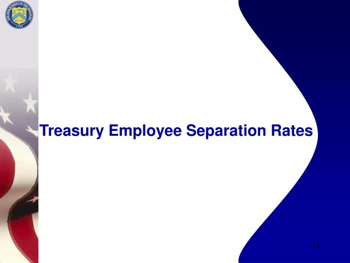 Treasury Employee Separation Rates