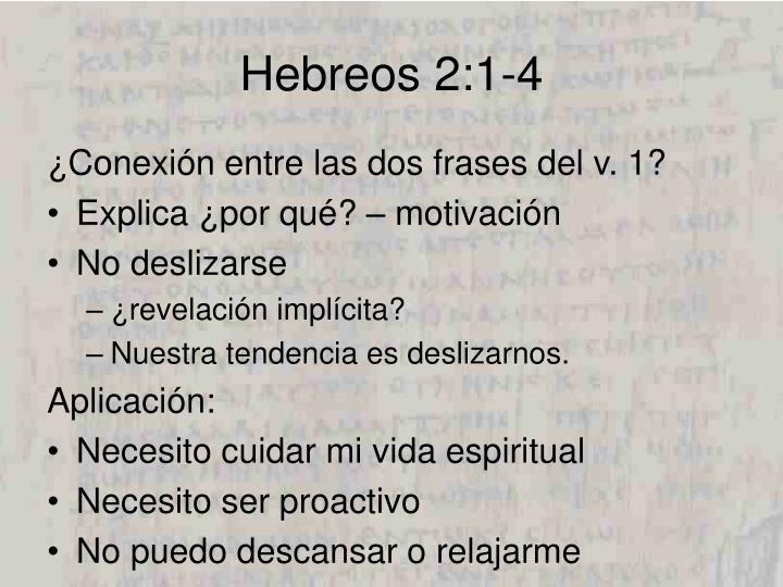 Hebreos 2:1-4