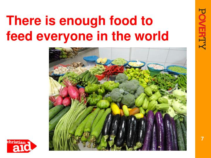 There is enough food to feed everyone in the world