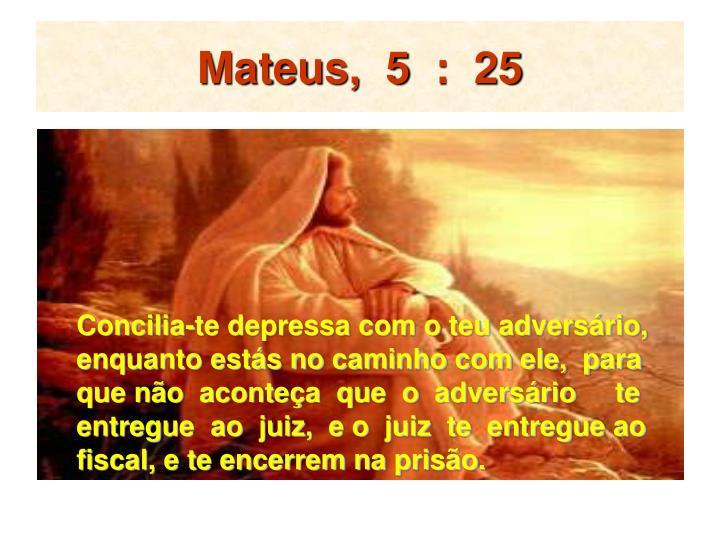 Mateus,  5  :  25