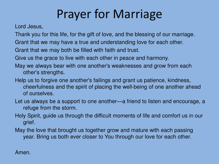 Prayer for Marriage