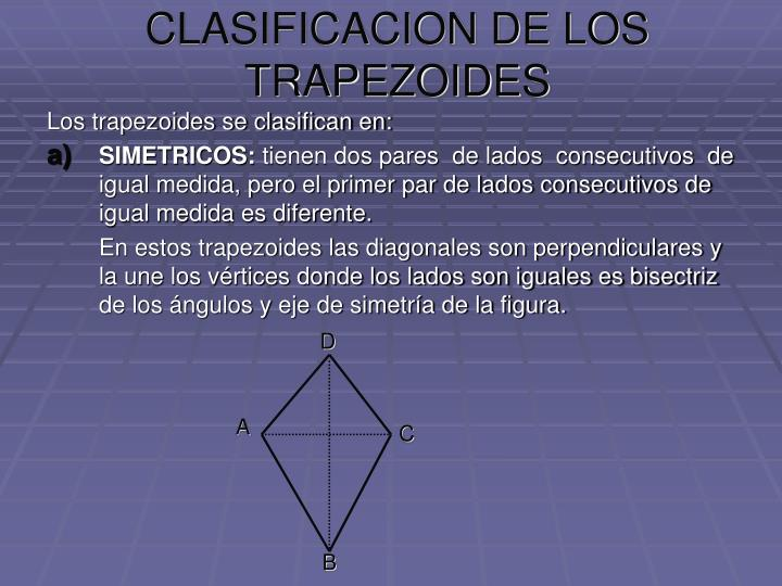 CLASIFICACION DE LOS TRAPEZOIDES