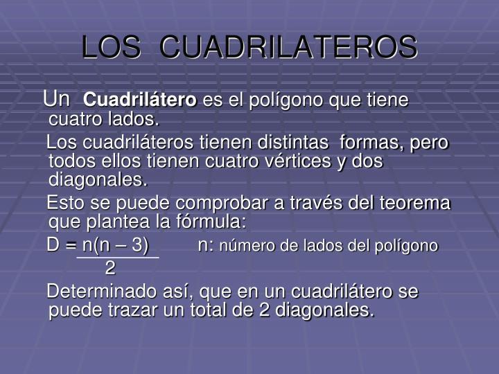 LOS  CUADRILATEROS